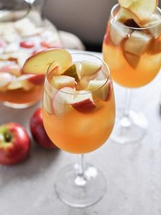 Apple Cider Sangria from our friends at How Sweet It Is.