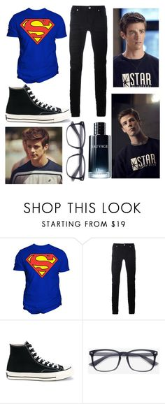 """""""Grant Gustin"""" by inocorbe ❤ liked on Polyvore featuring Changes, Diesel Black Gold, Converse, EyeBuyDirect.com, Christian Dior, men's fashion and menswear"""