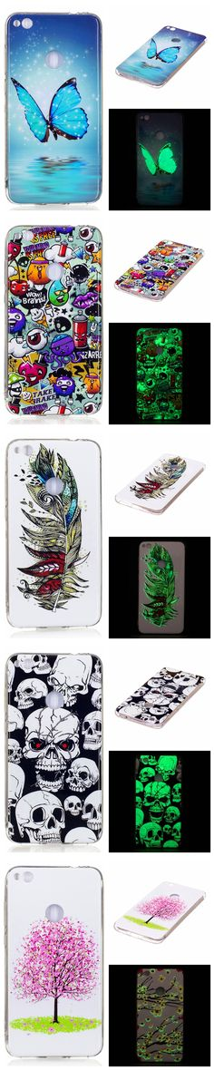 "Huawei P 8 Lite 2017 5.2"" Luminous Case Animal Flower Anime Silicone TPU Skin Back Cover Phone Case for Huawei P8 Lite 2017"