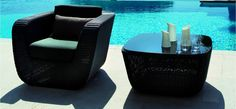 The Savannah Coffee Table combines Danish design with the requirements of maintenance free outdoor furniture.