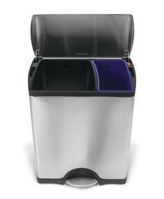 Simplehuman Pedaalemmer Rectangular GFT 30/ 16 liter - mat rvs
