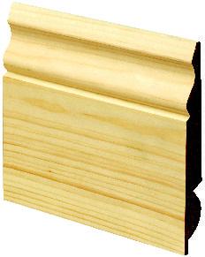 Wickes Dual Purpose Pine Torus/Ogee Skirting 19x167x3600mm Pack 2