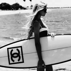 chanel, beach, and girl