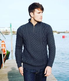 Traditional stitches re-imagined for the modern man #styleinspo #fashion #factory #ireland #design #irishdesign #tradition #heritage #contemporary #crafts #knit #knitwear #natural #merino #comfort #cosy #luxury #sweater #modern #mensstyle #ootd