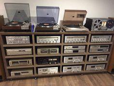 Poste Radio Vintage, Hifi Stand, Audio Rack, Vinyl Music, Vinyl Records, Hifi Audio, Audiophile Music, Vinyl Record Storage, Audio Sound