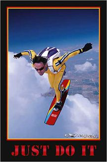 Sky Surfer Just Do It Extreme Sports Poster