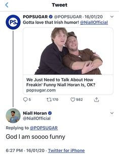 One Direction Tweets, One Direction Pictures, I Love One Direction, Niall Horan Funny, Irish Baby, James Horan, 1d And 5sos, 1direction, Funny Tweets