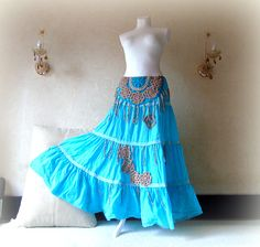 Excited to share the latest addition to my #etsy shop: Boho tattered tiered skirt Long blue Gypsy hipster Plus size Skirt Hippie Clothing Bohemian festival boho skirt Shabby maxi Cotton skirt http://etsy.me/2mW39FO #clothing #women #skirt #blue #brown #christmas #longbohoskirt #f