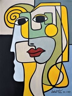42 Cubism Art Movement Painting Work I – Malerei Portraits Cubistes, Cubist Portraits, Cubist Paintings, Cubist Art, Portrait Art, Abstract Face Art, Picasso Art, Pablo Picasso, Guache