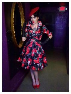 The print of this yet-to-be-released Deadly Dames dress is to die for!!