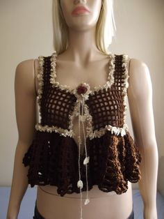 Shrug del ganchillo / Crochet BOLERO / chaleco por BilgesCreation