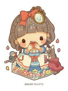 Fairy Tale Mood - Posts tagged little red riding hood Kawaii Chibi, Cute Chibi, Kawaii Art, Anime Chibi, Anime Art, Cute Animal Drawings Kawaii, Kawaii Drawings, Cartoon Drawings, Cute Drawings