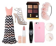 """""""Chevron"""" by calliefashion11 on Polyvore featuring Chicnova Fashion, Schutz, Rimmel, Tom Ford and Chloé"""