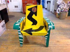 Arrow broadway chair #44, Boris Bally