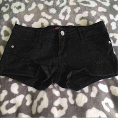 Size 5 black sequin shorts Most famous size 5 shorts. Back pockets are sequin Almost Famous Shorts