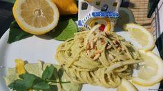 spaghetti pesto limoni procida