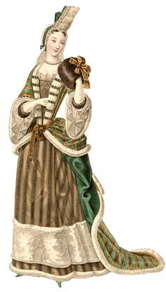 Women's hairstyles and headdresses during this time could be quite eccentric and extravagant. This woman in particular is pictured wearing a fontage, which is a series of ruffles held in place with wires. English Comedy, 17th Century Fashion, Tight Curls, Popular Hairstyles, Headdress, Seventeen, Baroque, Bodice, Princess Zelda