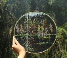 Вышивка гладью пейзажей от Jura Gric - Ярмарка Мастеров - ручная работа, handmade