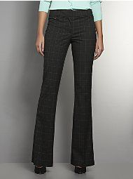 The Crosby Street Tailored Flare Leg Pant - Windowpane Check - Tall