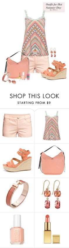 """""""Hot Summer Day Outfit"""" by alina-n ❤ liked on Polyvore featuring H&M, M&Co, City Classified, C'N'C, Hermès, Suzanne Kalan, Essie, AERIN, Full Tilt and ootd"""