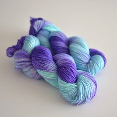 Self Striping Sock Yarn  Fingering Hand Dyed by ToilandTrouble, $26.00