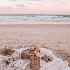 West Coast, Beach Aesthetic, Sunset, Summer Vibes, Summer Aesthetic images ideas from All About Beach Summer Vibes, Summer Sunset, Summer Beach, Summer Picnic, Picnic On The Beach, Picnic Date, Pink Sunset, Beach Aesthetic, Summer Aesthetic