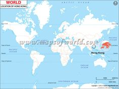 #Location #Map of #HongKong shows where is present in the #WorldMap.