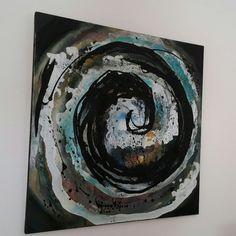 Acrylgemälde auf Leinwand Strudel Original von abstractartmoewchen