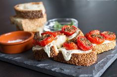 Slow Roasted Cherry Tomato and Goat Cheese Toast