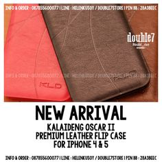 KALAIDENG Oscar II Series - For Iphone 4 & 5 ||  Compatible Brand : Apple Iphone ||  Compatible Type : Iphone 4G/4S/5G/5S ||  Material : Leather ||  Type : Bookcase ||  Quality : Premium ||  Retail Pack : Yes ||  Available Color : Brown, Black, Pink ||  Order : +62878.556.00077  #premium #premiumcase #kalaideng #kalaidengoscar #iphone #iphonecase #aluminumcase #seller #supplier #surabaya #indonesia