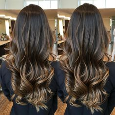 Hair dyed balayage dark ideas for 2019 Hair Dye Balayage, Cabelo Ombre Hair, Brown Balayage, Hairstyles Haircuts, Cool Hairstyles, Hair Color For Morena, Hair Shades, Hair 2018, Brunette Hair
