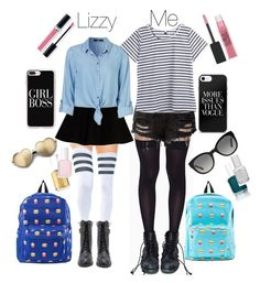 """""""School Girls"""" by mermaid-mj on Polyvore featuring Stance, Leg Avenue, Max&Co., Casetify, Essie, Maybelline, Christian Dior, Wildfox and Burberry"""