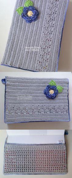 Tecendo Artes em Crochet: Capas para agendas e Cadernos                                                                                                                                                                                 Mais