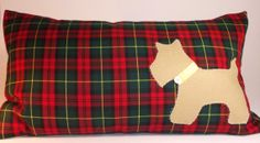 A cushion I've just added to my store!  Tartan Cushion cover with scottie dog by TheCraftyFoxBoutique, £18.99