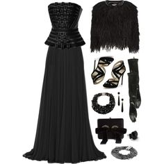 """""""Evening Wear With Gloves"""" by angela-windsor on Polyvore"""