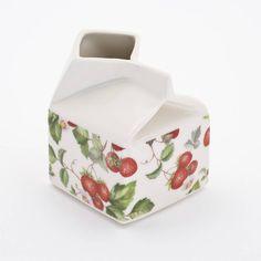 Strawberry Porcelain Milk Jug