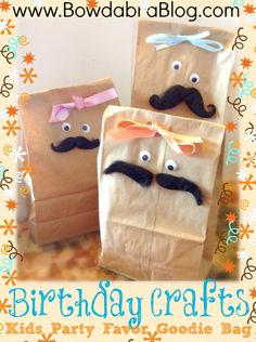 Birthday Crafts - Kids Party Favor Goodie Bag #party #crafts #favorbag