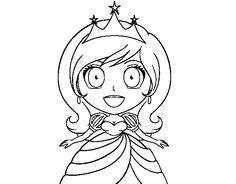 Dibujo de Princesa sorprendida para colorear