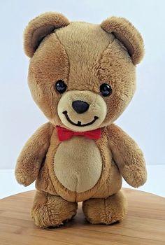 00eebcc09163 Gund Kraft Peanut Butter Bear Plush Red Bow Stuffed Animal Brown Teddy Bear  10