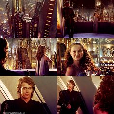 """You're so beautiful"" :) <- This is why I have conflicting feelings about the Prequels, Natalie Portman is so amazing and the way Anakin looks at Padame is how I want to be looked at (though I would rather not be killed by my love because he goes batshit crazy and thinks I've turned against him because of what his best friend/mentor said)."