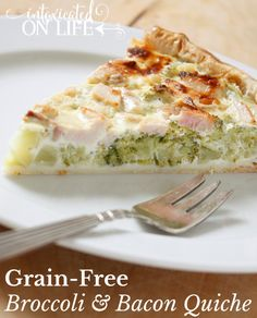 Cheesy Broccoli and Bacon Quiche Shared on https://www.facebook.com/LowCarbZen | #LowCarb #Bacon