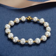 Jewelry OFF! Gold Plated Beads White Cultured Freshwater Pearl Bracelet Wedding Bridal Jewelry for Women Wedding Jewelry, Diy Jewelry, Jewelry Bracelets, Fashion Jewelry, Women Jewelry, Jewelry Making, Pearl Bracelets, Freshwater Pearl Bracelet, Gold Earrings Designs