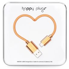 Micro USB-kabel i rosegull fra deluxe-kolleksjonen til Happy Plugs. Tech Accessories, Cell Phone Accessories, Iphone Charger, Retail Packaging, Wireless Headphones, Plugs, Usb Flash Drive, Smartphone, Rose Gold