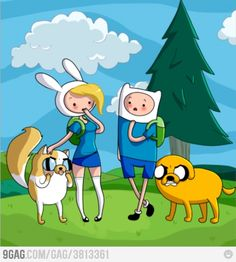 Adventure Time, c'mon grab your friends, we'll go to very distant lands. Jake the Dog and Finn the Human, the fun will never end ADVENTURE TIME.