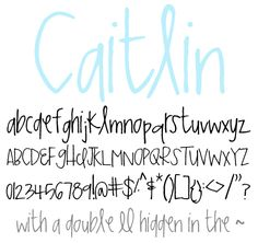 Oh my goodness... FONTS GALORE!!! Luv these...