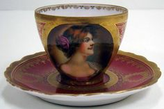 Portrait teacups | AUSTRIA PORTRAIT CUP AND SAUCER