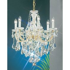 Classic Lighting 8121-OWG 26 Crystal Traditional Chandelier from the Maria Thersea Collection (Incandescent - swarovski spectra crystal - 60 W - Multi-directional)