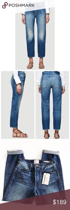 "Frame Rigid Re-Release Le Original Rigid Re-Release Jean Pays Homage To 80s Denim. This Cult Classic Fit Is Recut From 100% Rigid Cotton For A Structured Silhouette. Features A Long Rise And Sits Just Below The Natural Waist. New with tags.  Size & Fit True To Size High-Rise Straight Fit Button Fly Non-Stretch Denim Made in USA 100% Cotton Machine Wash 11.5"" Front Rise/27"" Inseam/13.5"" Leg Opening Frame Denim Jeans"