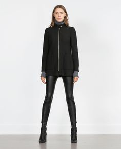 #2015wintercoat COAT WITH CENTRAL ZIP-View all-Outerwear-WOMAN | ZARA United States