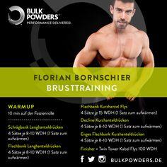 So trainiert Fitnessmodel, Natural Bodybuilder & Bulk Powders™ Athlet Florian Bornschier! Probiert sein effektives Brusttraining aus